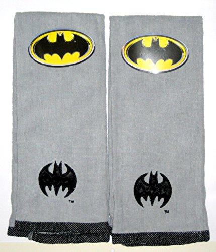 Batman Embroidered Hand Towel Grey Set of 2
