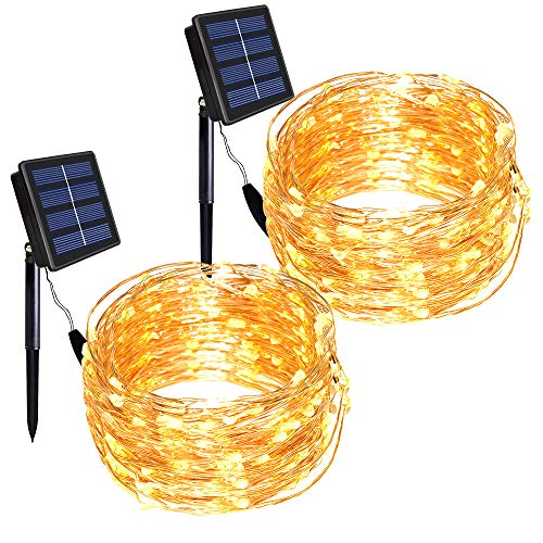 Solar Powered Garden Lights Copper