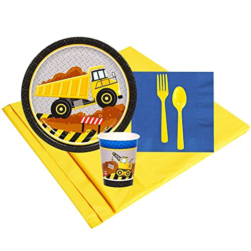 Construction Party Supplies - Party Pack for 8 Guests