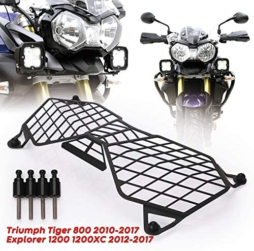 Gaoominy Motorcycle Headlight Grille Light Cover Protective Guard For Triumph Tiger 800 2010-2017 And Explorer 1200 12-17 Protector