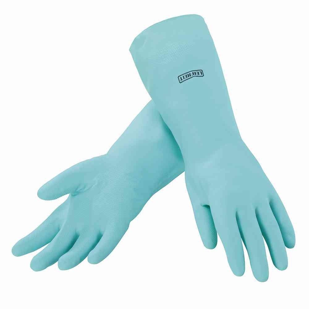 Leifheit 40038 - Guantes de latex hipoalergenicos para la limpieza de la casa, color turquesa