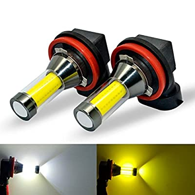 Alla Lighting Xtreme Super Bright LED Fog Light Bulbs - High Illumination COB-72 Universal LED Bulb Fog Lights Lamp Replacement
