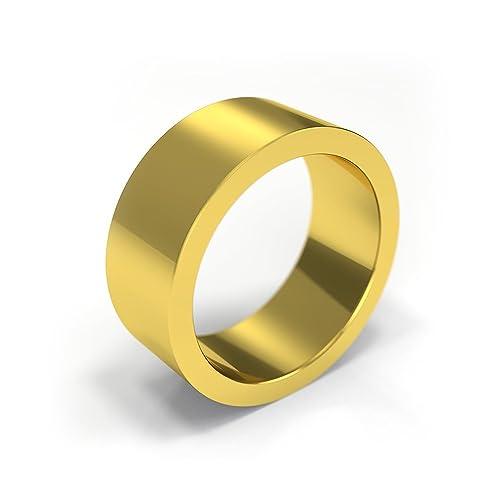 9 ct Oro Amarillo Anillos de Boda - Calidad Premium soporte de ...