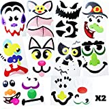 JOYIN 20 Assorted Pieces Pumpkin Decorating Craft Kit Stickers in 12 Designs Halloween Party Supplies Trick or Treat Party Favors (10 INCHES by 6.75 INCHES)