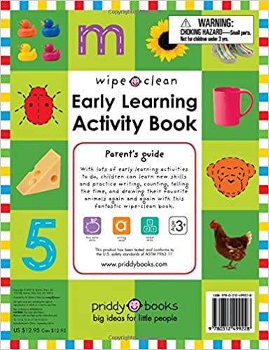 Workbook customizable handwriting worksheets : Amazon.com: Wipe Clean: Early Learning Activity Book (Wipe Clean ...