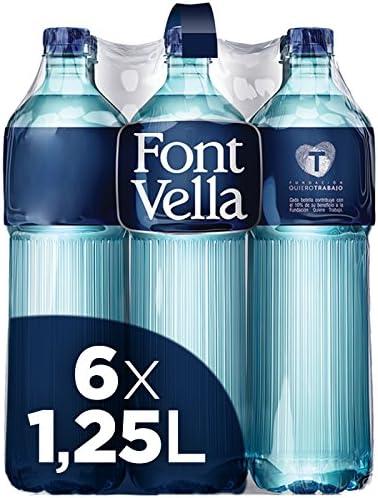 Font Vella, Agua Mineral Natural Premium - Pack de 6 x 1,25L: Amazon.es: Alimentación y bebidas