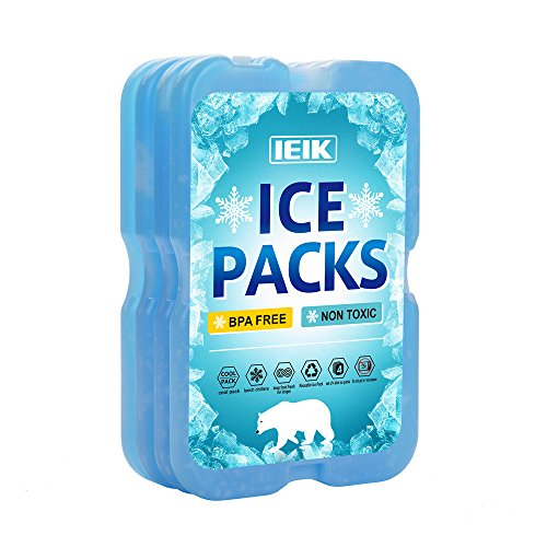 Long Lasting Food (IEIK Cool Coolers Slim Long-Lasting Reusable Ice Packs for Lunch Boxes, Lunch Bags and Coolers(Set of 4) (Rectangle))