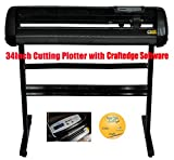 Vinyl 34inch 500g Cutting Plotter Black Color with Craftedge Software for T-shirt Heat Transfer Media