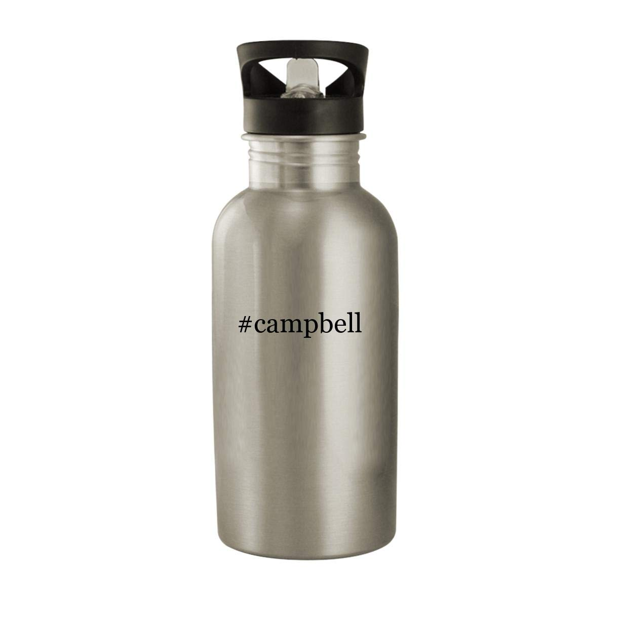 #campbell - Stainless Steel Hashtag 20oz Water Bottle, Silver