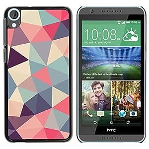 FlareStar Colour Printing Polygon Triangle Pattern Poly Art Pattern cáscara Funda Case Caso de plástico para HTC Desire 820