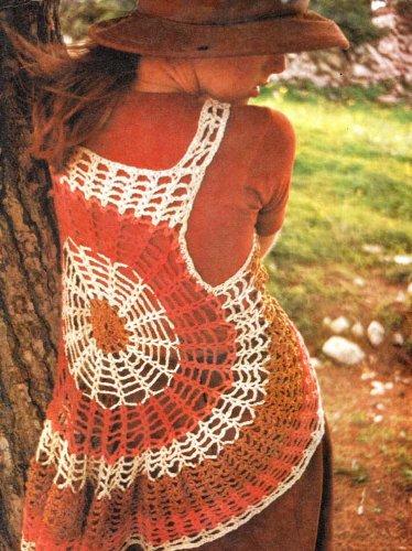 Crochet In Circles Cobweb Vest Top Vintage Pattern Kindle Edition