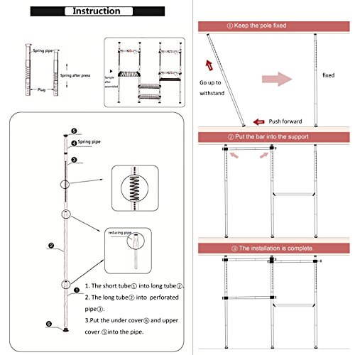 2 tier adjustable garment rack instructions