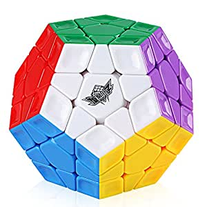 D-FantiX Cyclone Boys Megaminx Speed Cube Rainbow 3x3 Dodecahedron Puzzle Toy Stickerless