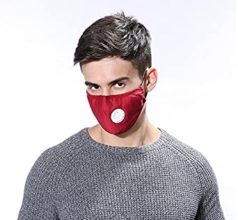 Pollution Jern Dust Mask red Anti 2 Respirator Washable Cotton Pcs Reusable