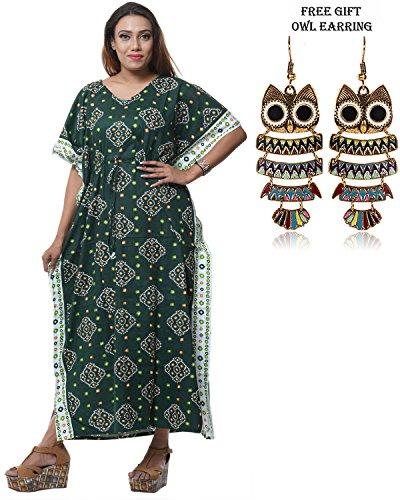 Long Caftan Dress Evening Gown Women 5034 Day Odishabazaar 100 Cotton qxSaaC