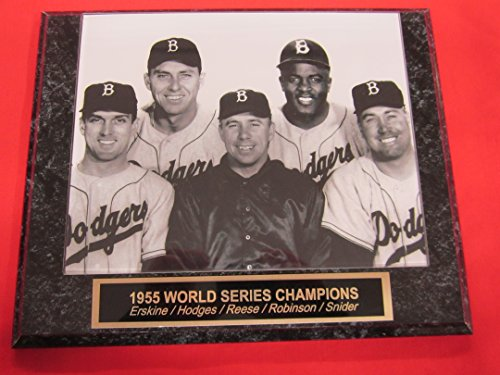 - Brooklyn Dodgers 1955 World Champions Collector Plaque #1 w/8x10 Photo! GREAT POSED PHOTO!