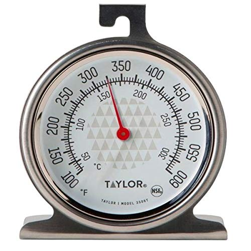 Taylor 3506 RA14257 Oven Dial Thermometer, 1, Stainless Steel/Black (Series Analog)