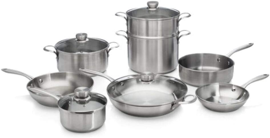 Frigidaire 11FFSPAN17 ReadyCook Cookware, 12-piece, Stainless Steel