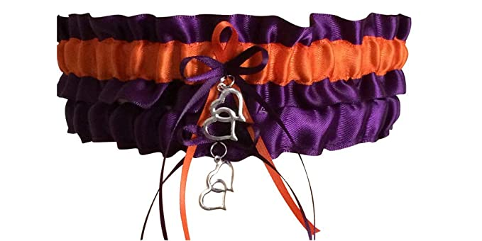 aa53c887336 Image Unavailable. Image not available for. Color  Plum Purple and Orange Wedding  Garter Set ...