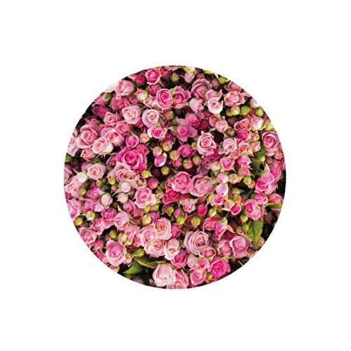 (Europe Type 3D Flower Round Carpet for livingroom Bedroom Door Hallway Rug Crystal Velvet Non-Slip Bathroom Antiskid mats,4,80CM DIAMTER)