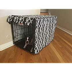 528 Zone Modern Brown & White Designer Dog Pet Wire Kennel Crate Cage House Cover (Small, Medium, Large, XL, XXL) (XL 42x28x31)