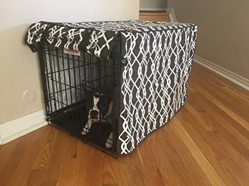Modern Brown U0026 White Designer Dog Pet Wire Kennel Crate Cage House Cover  (Small, Medium, Large, XL, XXL) (XL 42x28x31