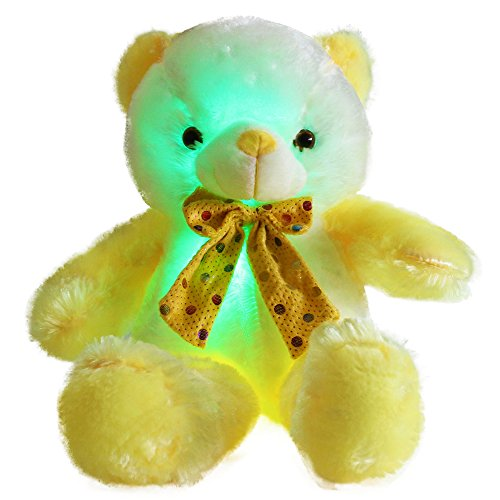 WEWILL LED Teddy Bear Stuffed Animals Glow Soft