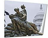 Ashley Giclee Arlington Memorial Statues To Vietnam War Women Nurse 2 Fine Art Decoration for kitchen, living room, home office, den or bedroom, ready to frame, 24x30 Print
