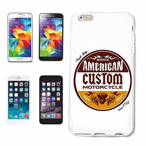 """cas de téléphone iPhone 6+ Plus """"AUTHENTIQUE AMERICAN CHOPPER Motard SHIRT MOTO CHOPPER MOTO GOTHIQUE SKULL MOTO CLUB BIKE ROUTE 66"""" Hard Case Cover Téléphone Covers Smart Cover pour Apple iPhone en b"""