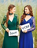 Ever-Pretty Womens Elegant V-Neckline Lace Sleeves