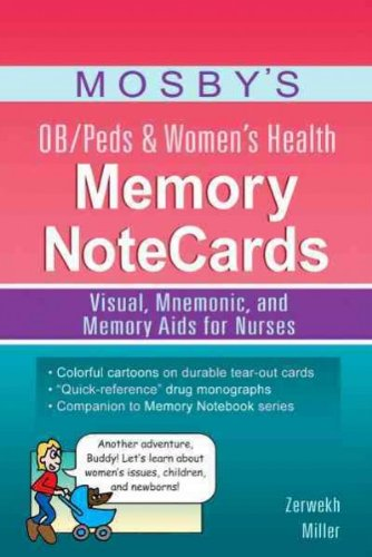 Download Mosby's Pharmacology Memory NoteCards: Visual, Mnemonic, and Memory Aids for Nurses [Spiral-bound] pdf epub