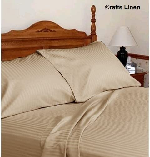 Crafts Lino algodón Egipcio de 300 Hilos satén 4 Piezas Set (1 ...