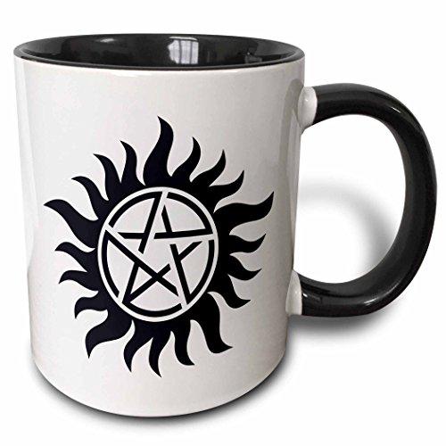 3dRose mug_193333_4 Supernatural Symbol Black