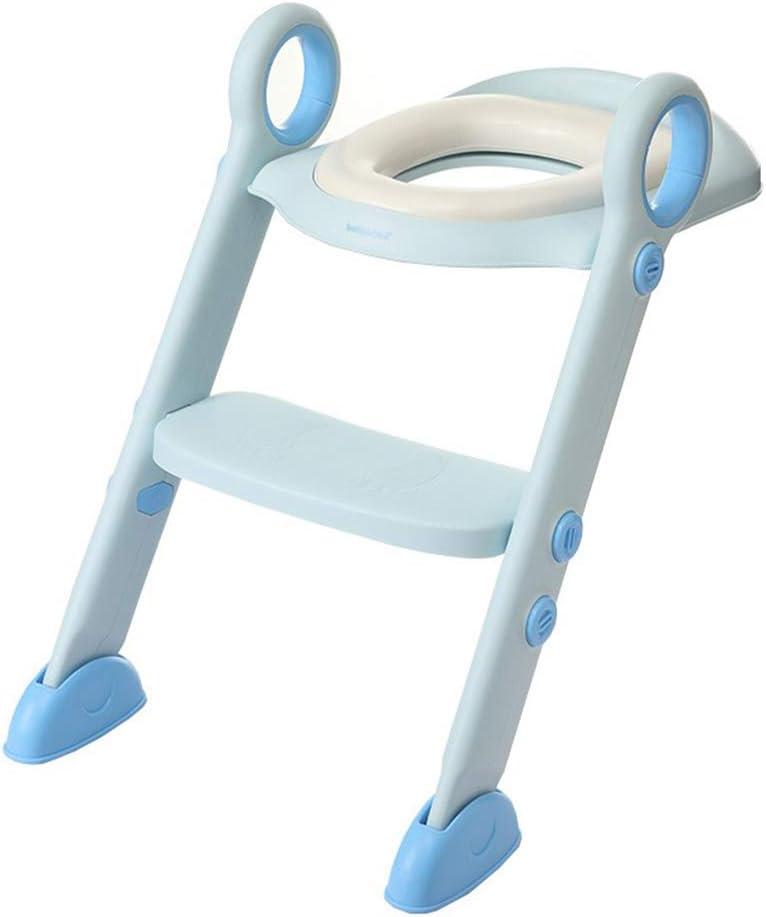 KJGFD Reductor WC NiñOs Aseo Asiento con Escalera, Bebe Orinal Infantil Antideslizante/Plegable Asientos WC Escalera Adecuado para NiñOs De 1 A 7 AñOs(Rosa),Blue: Amazon.es: Hogar