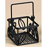 "American Metalcraft SBL353 American Metalcraft SBL353 Sugar Packet Baskets, Leaf, Wrought Iron, 5"" Length, 3"" Width, 3"" Height, Iron,"