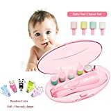 Baby Nail File, GINDOLY Electric Baby Nail Clipper for Newborn Toddler Infant Adults Toes and Fingernails, with One Free Nail Clipper,Quiet, Light,AA Battery Operated(Not Included)