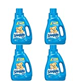 Snuggle Liquid Fabric Softener with Fresh Release, Blue Sparkle, 50 Fluid Ounces(4 Pack)