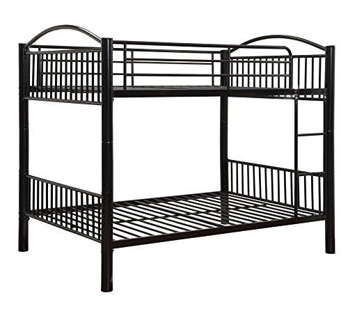 ACME Cayelynn Black Full over Full Bunk Bed