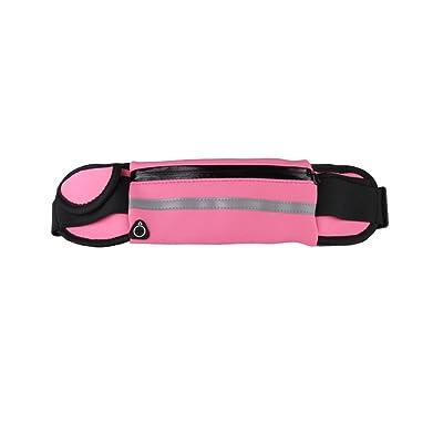 Sac de taille de sport, ceinture imperméable à l'eau Courroie de fermeture à glissière de ceinture, bandes réfléchissantes et sangle réglable pour les sports ou les voyages en