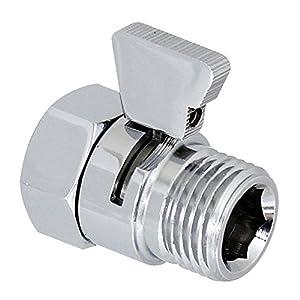 KES K1140B3 Shower Head Shut-Off Valve Brass with Metal Handle, Polished Chrome