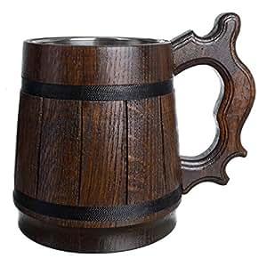 Amazon.com: Copa de acero inoxidable, hecho a mano, taza de ...