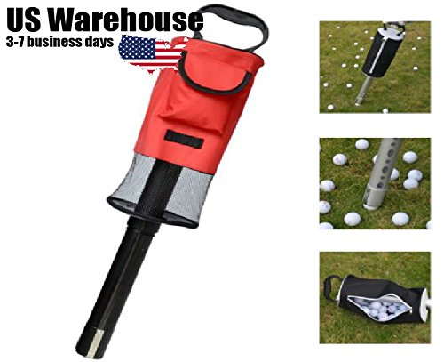 Portable Golf Ball Picker Pick-Ups Retrievers Pocket Storage Bag Scooping Device [US Warehouse] by ShopIdea