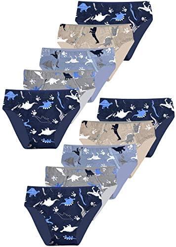 LOREZA10 pack Jongens Slipje Dinosaurus Motief Katoen 116122 67 jaar slipPak van 10