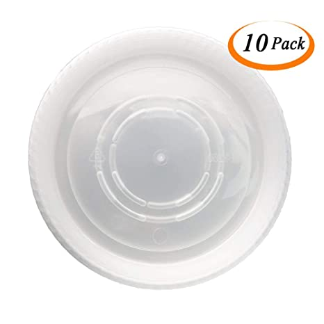 CandyHome 10 Pieces of 10 Inch Plant Saucers Plastic Plant Trays Plant Pot Saucers for Indoor Outdoor Household and Garden Assorted