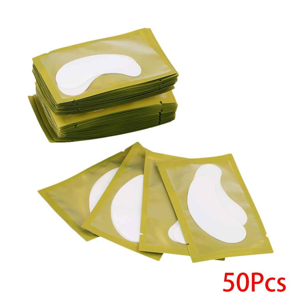 MUANI Sous les yeux Cils 50pcs Gel Pad papier Conseils autocollants Lash Extension Lint Eye Patches Wraps