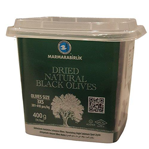 Marmarabirlik Dried Natural Black Olives 400g, pack of 1