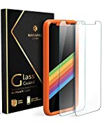 Anker KARAPAX iPhone X Screen Protector GlassGuard for iPhone X / 10 (2017) with DoubleDefence Technology and Tempered Glass [2 PACK]