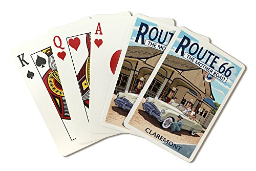 claremont-california-route-66-service-station-playing-card-deck-52-card-poker-size-with-jokers