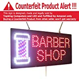 Barber Shop Sign, Super Bright High Quality LED Open Sign, Store Sign, Business Sign, Windows Sign