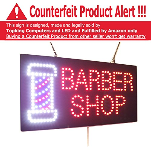 New Barber Shop Sign, Super Bright High Quality LED Open Sign, Store Sign, Business Sign, Windows Sign